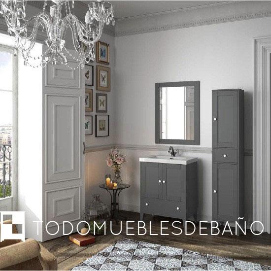 Gu a de decoraci n muebles de ba o r sticos for Muebles de bano vintage