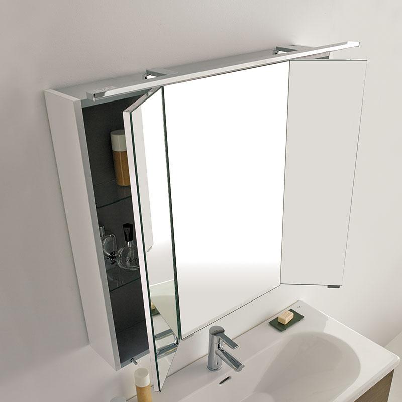 Decoraci n de ba os peque os modernos for Focos para espejos de bano