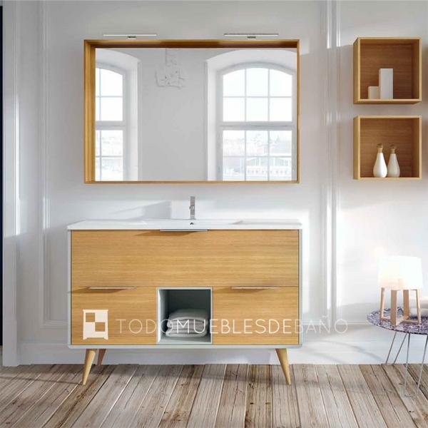 Seis muebles de ba o de madera para todos los estilos - Mueble de bano madera ...