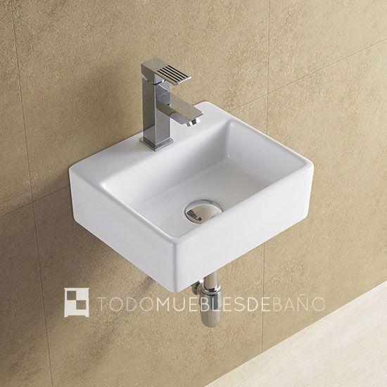 lavabo suspendido para bao pequeo