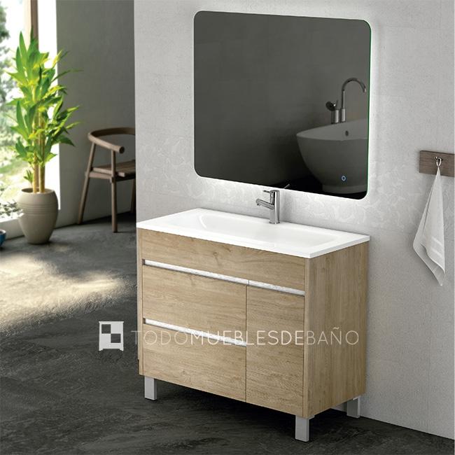 Los muebles de ba o m s vendidos de coycama for Mueble bano madera clara