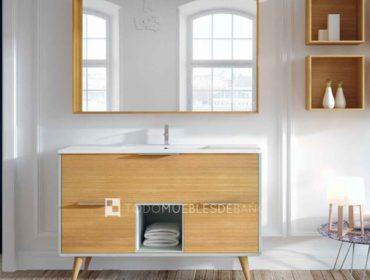 Mueble de baño de aspecto retro con patas