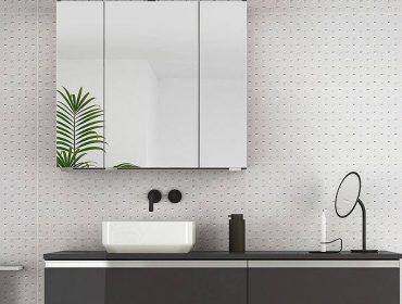 Mueble de baño volado tipo encimera de color negro
