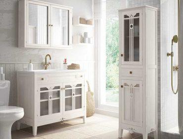 Mueble de baño provenzal Lira de estilo costero y rústico