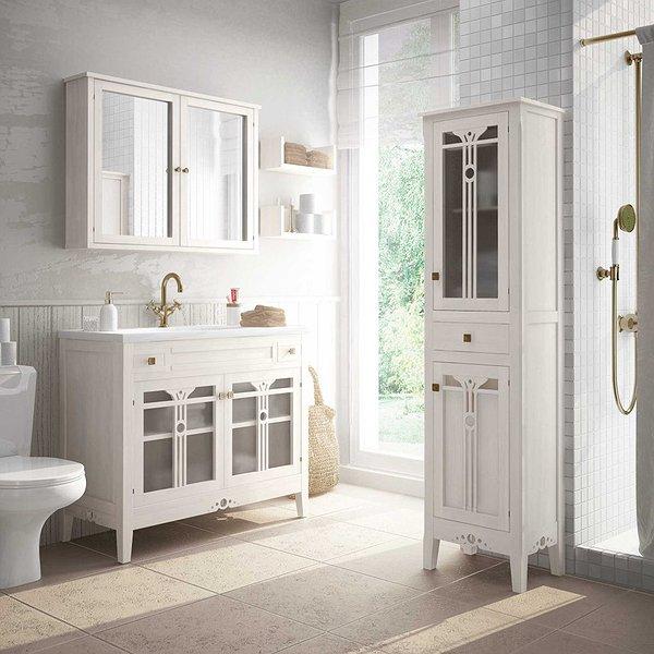 5 muebles rústicos blancos para un baño marinero