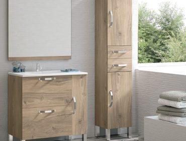 Muebles de baño con lavabo encastrado