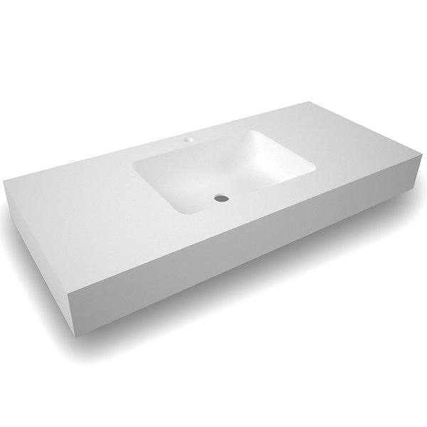 Lavabo suspendido Solid Surface blanco Illice