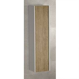Columna Wood 140x35x32cm de Coycama blanco mate / roble natural
