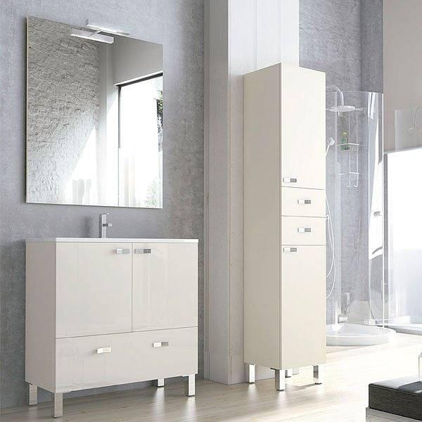 c0fbbc86203f Mueble de baño de Campoaras Vega fondo reducido 37,5 con patas 2 puertas 1  cajón