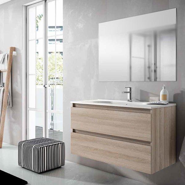 1d4324aa0967 Conjunto mueble de baño Box Viso Bath suspendido 2 cajones