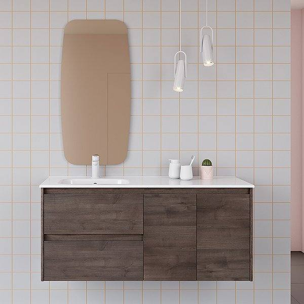 Mueble de baño Alfa de Royo Group color fresno samara