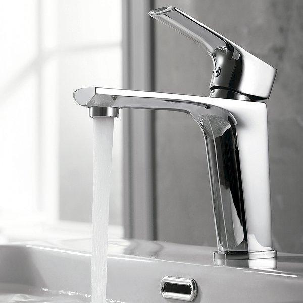 Grifo de lavabo monomando de Imex cromado 118x114 mm Bali ...