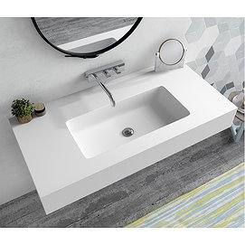 Lavabo suspendido Solid Surface seno desplazado Baltimore Bruntec
