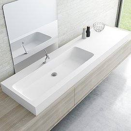 Lavabo suspendido con faldón Solid Surface Chiclana Decorbath