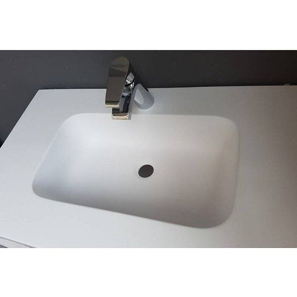 Forma Seno lavabo suspendido Solid Surface blanco Illice