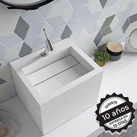 Lavabo sobre encimera Solid Surface Compac Decorbath
