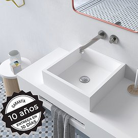 Lavabo sobre encimera Solid Surface Quadro Decorbath