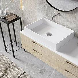 Lavabo sobre encimera Solid Surface Square Decorbath