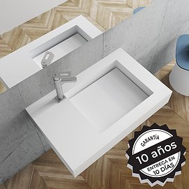 Lavabo suspendido con faldón Solid Surface Tennessee Decorbath
