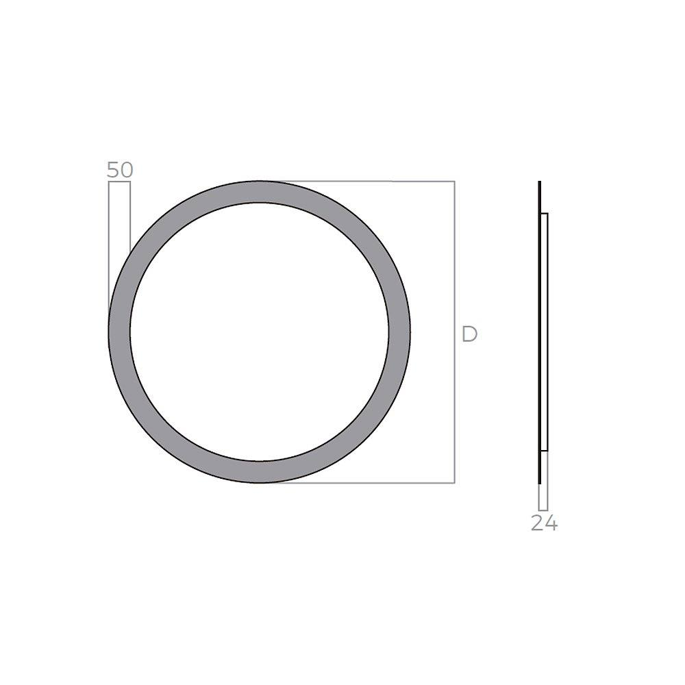 FYYSL 60x60cm Ronda LED Espejo de ba/ño Espejo de ba/ño con iluminaci/ón Blanco fr/ío Espejo Iluminado Espejo de Pared con Interruptor t/áctil
