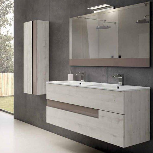 Muebles Bano Lavabo Cristal.Mueble De Bano Viso Bath Vision 3 Suspendido 2 Cajones 120 Cm