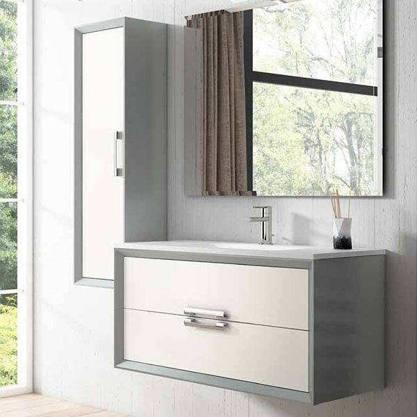 Mueble de baño Decor Tirador lateral plata de Viso Bath