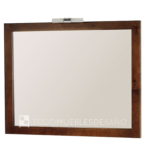 Espejo Bruselas 80x100cm de Bath Quality Nogal