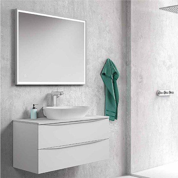 Mueble de ba o landes de coycama suspendido sobre encimera for Muebles de bano con lavabo sobre encimera