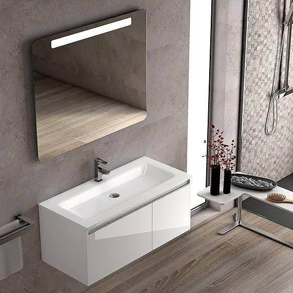 ce81c2766cf6 Conjunto mueble de baño de Coycama Sky suspendido 100 cm