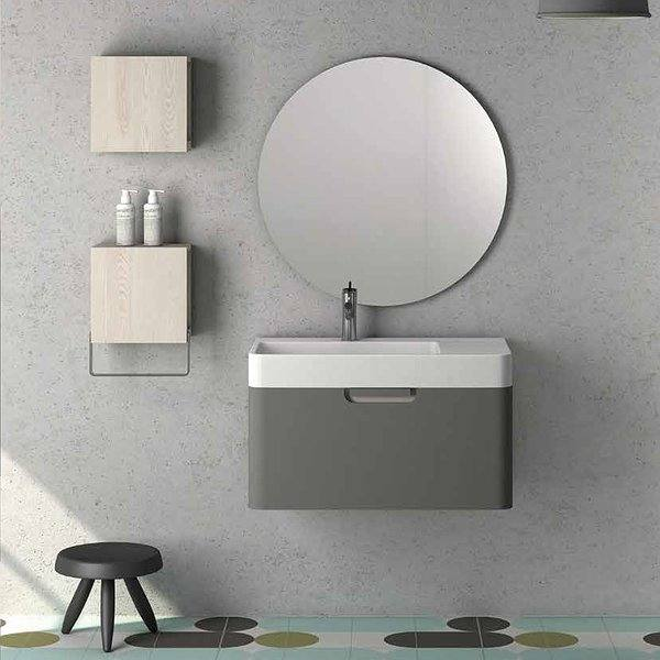 Mueble de baño Strip  de  Coycama gris intenso mate