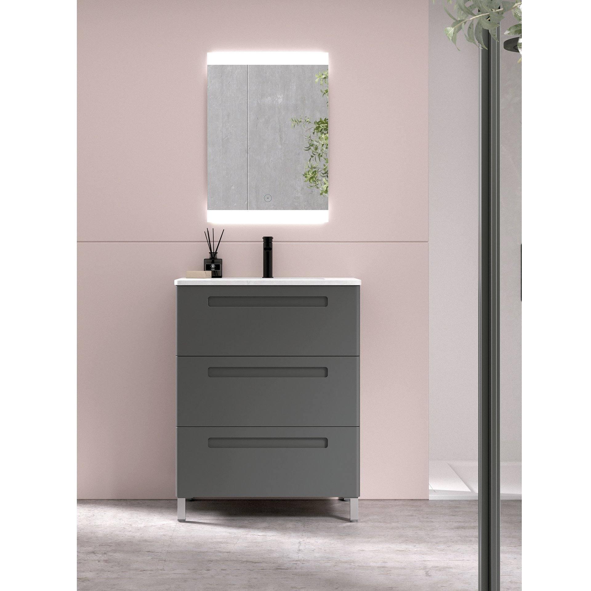 Conjunto mueble de baño de fondo reducido 39 cm de Avila ...
