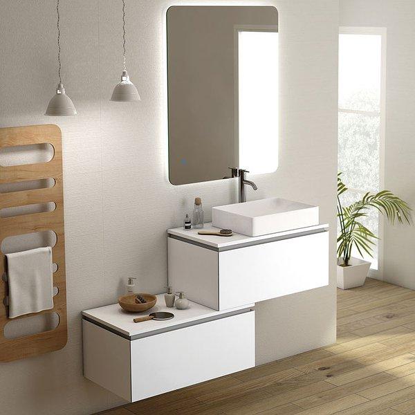 ad259268417b Mueble de baño Sigma suspendido con tapa de Coycama