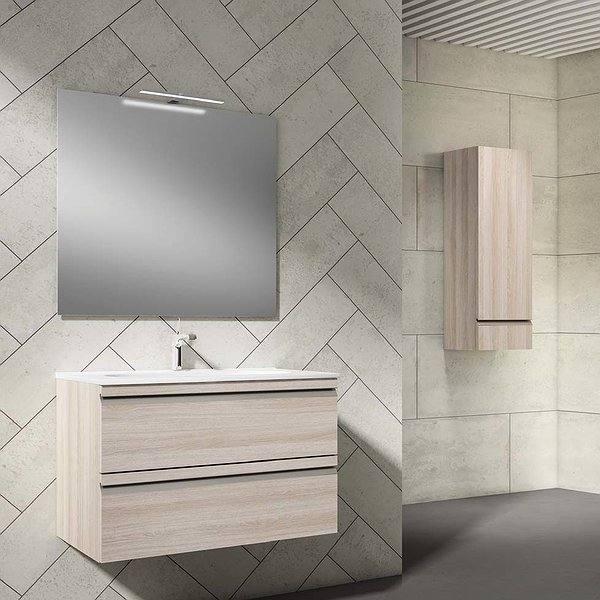 6a9937812f6f Conjunto mueble de baño de Viso Bath Silk suspendido 2 cajones color ...