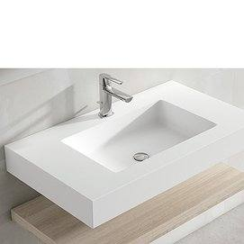 Lavabo Encimera Solid Surface Blanco de Viso Bath