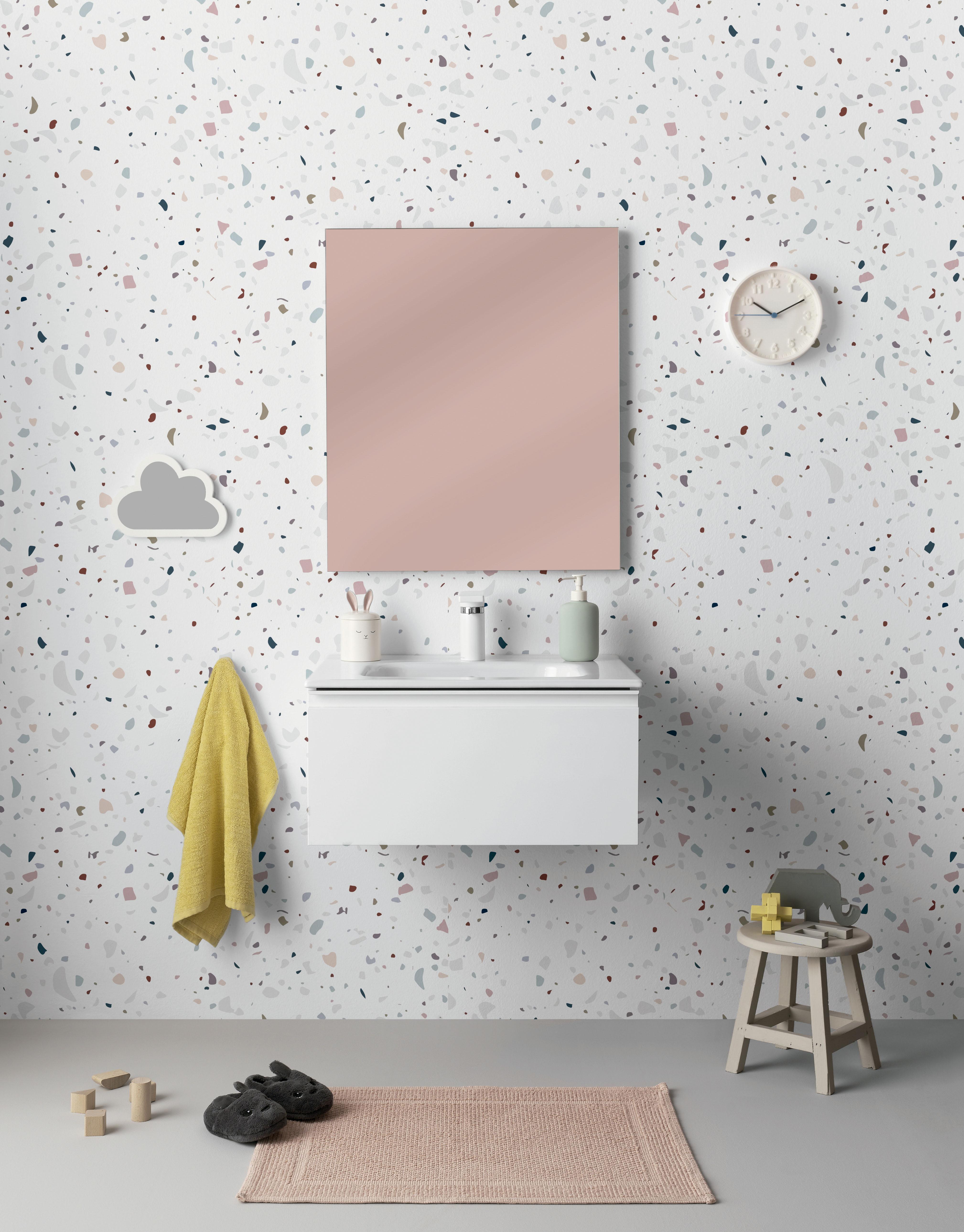 rectangular blanco soporte de pared Peque/ño lavabo para cuarto de ba/ño